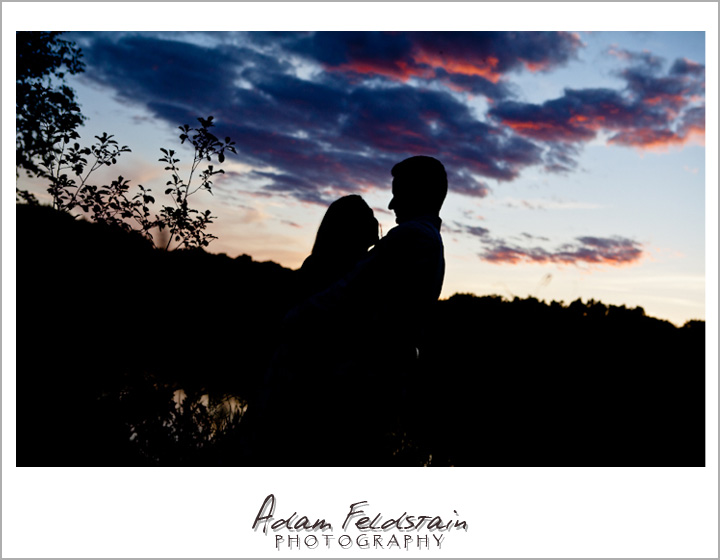 romantic silhouette of Khizr & Adriana