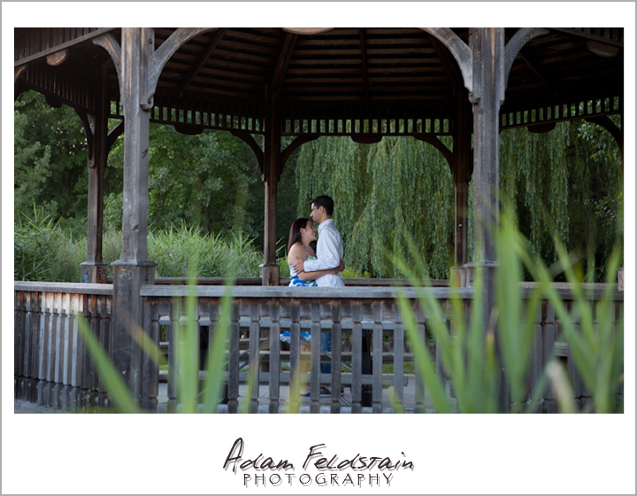 Khizr & Adriana in a gazebo