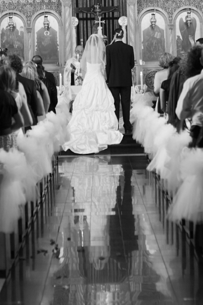 B & W Image from a wedding ceremony